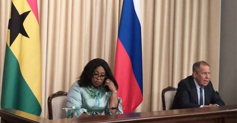 Shirley Ayorkor Botchwey(L) and Sergey Lavrov