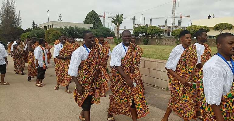 Team Ghana Displays Colourful Kente At AG [PHOTOS]