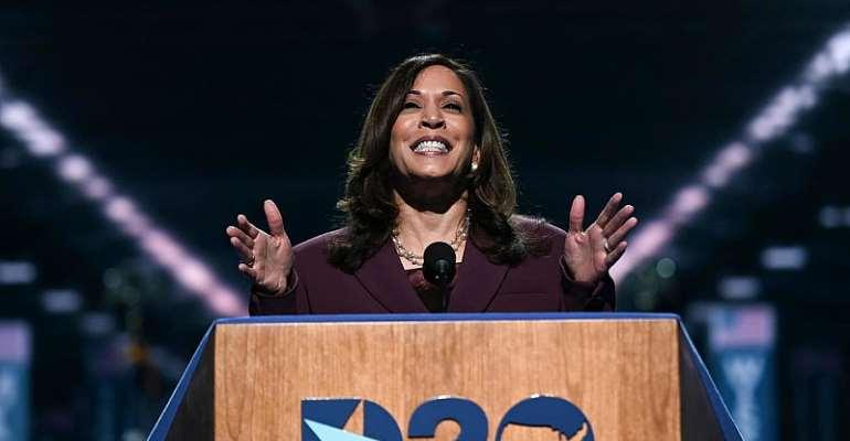 Vice-presidential candidate Kamala Harris bolsters Biden's Democratic bid