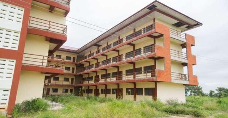 Weeds takeover former President Mahama's abandoned E-Block SHS