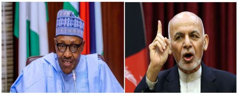 President Muhammadu Buhari of Nigeria & ex-President Ashraf Ghani of Afghanistan