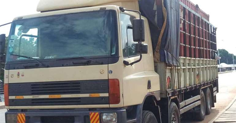 Truck Loaded With Rosewood Impounded