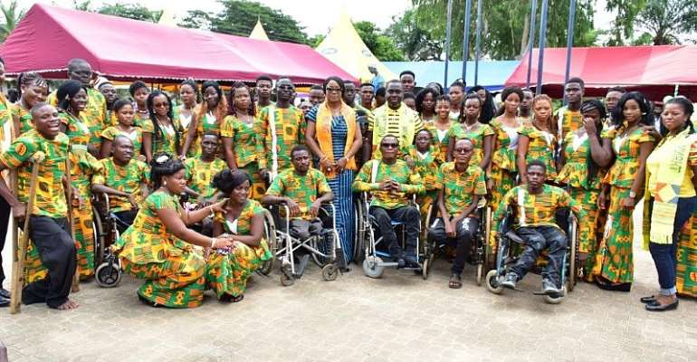 Beneficiaries Of St Theresa's Center For Physically Challenged Commend MTN