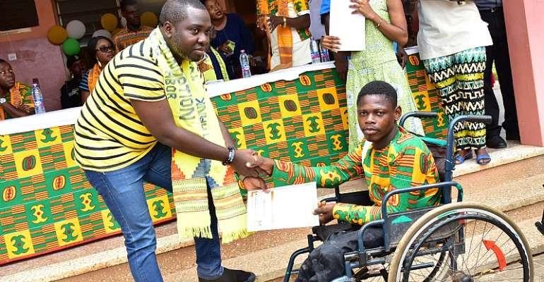 Beneficiaries Of St. Theresa's Center For Physically Challenged Commend MTN Ghana Foundation