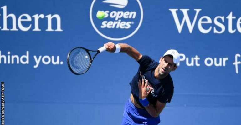 Djokovic is already practising in New York for the Cincinnati Masters, which takes place at Flushing Meadows before the US Open