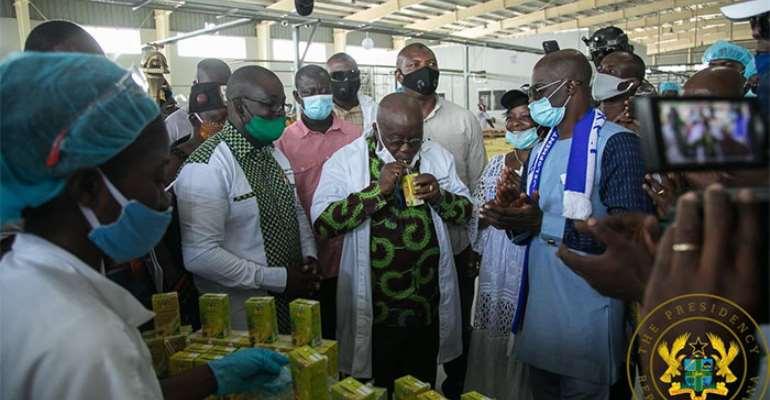 Akufo-Addo Commissions Ekumfi Fruits Factory Today