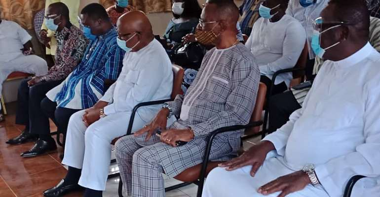 Speaker, Greater Accra NPP Executives Pay Homage To Ga Mantse