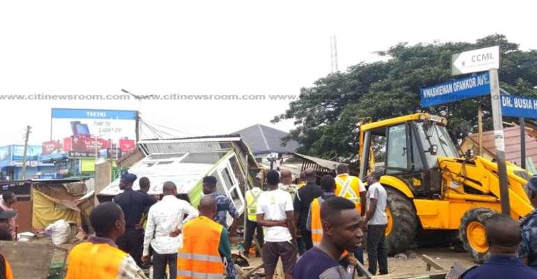 Unauthorised Structures Demolished Along Odorkor Highway