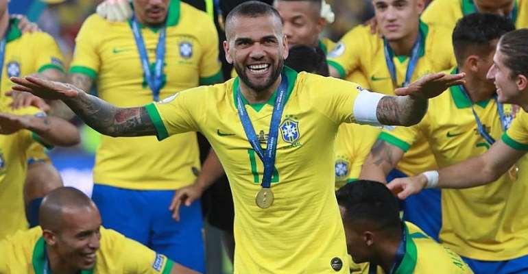 Brazil Captain Dani Alves Heads Home To Sao Paulo