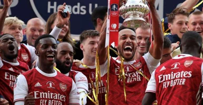 'Please Don't Come' - Ghanaian Football Fans Troll FA After Congratulating Eddie Nketiah After FA Cup Triumph