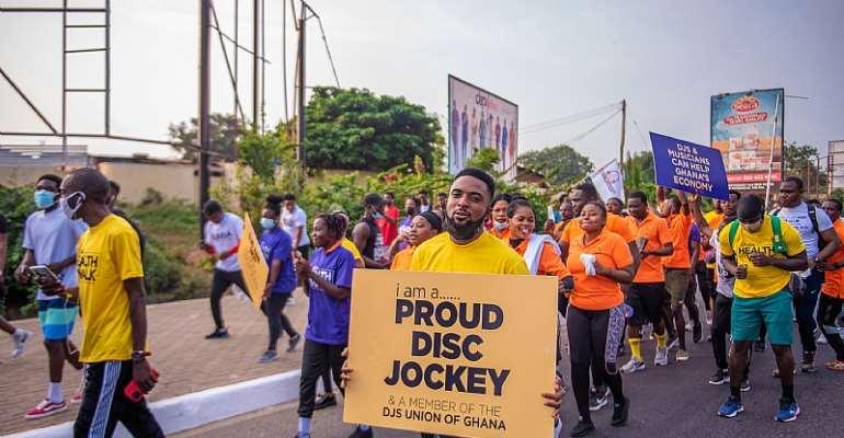 DJUGA Rocks Ghana With First DJs Health Walk