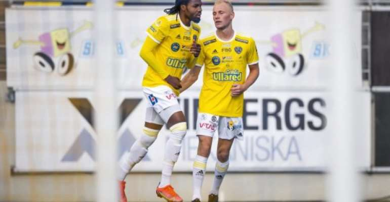 Ex-Hearts of Oak striker Kwame Kizito scores to save Falkenbergs FF from home defeat