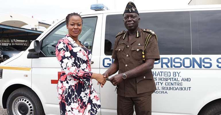 St Johns Hospital And Fertility Center Donate's Ambulance To Ghana Prisons Service