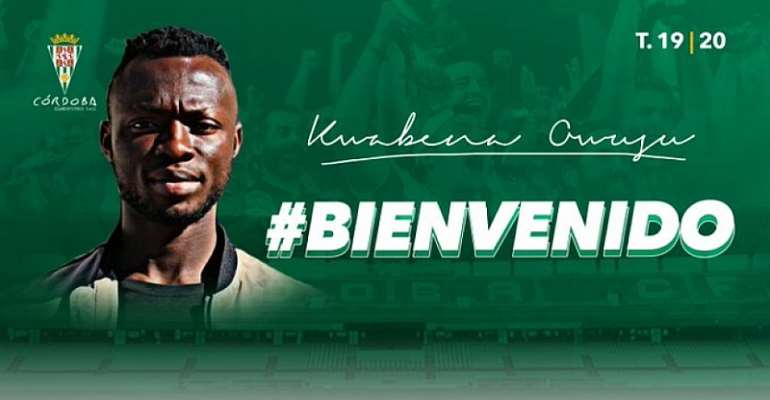Cordoba CF Sign Ghana Striker Kwabena Owusu On Long Season Loan