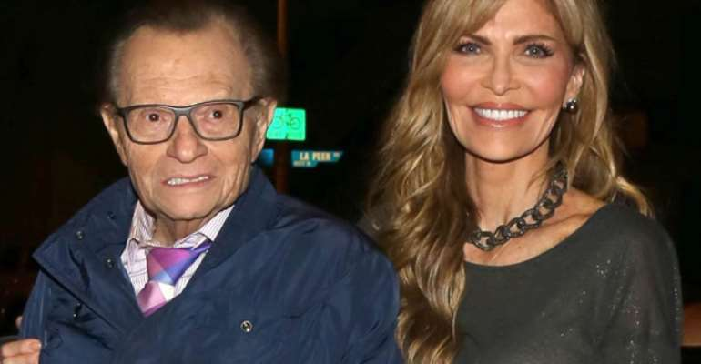 Larry King and his wife