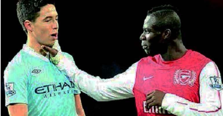Emmanuel Frimpong and Samir Nasri