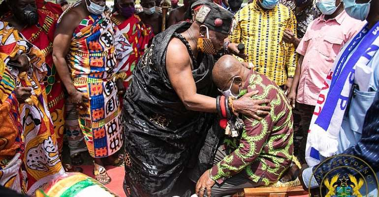 Akufo-Addo Gets 'Chief Of Development And Truth' Title From Ekumfi Chiefs