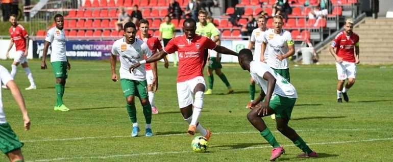 Raphael Dwamena Marks Vejle Boldklub With A Goal In defeat To Viborg