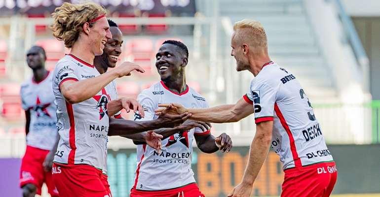 Daniel Opare Impress On Return From Injury To Help Zulte Waregem Thrash Waasland-Beveren 4-1