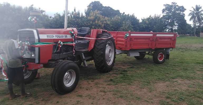 Ho West: Sammy Danku Donates Tractor, Calls For Investment In Agriculture