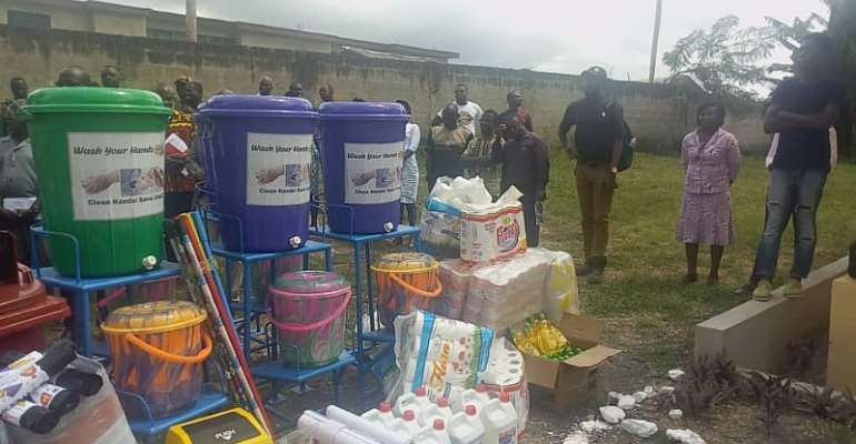 Cummins Ghana support FIASSEC with toilet facility