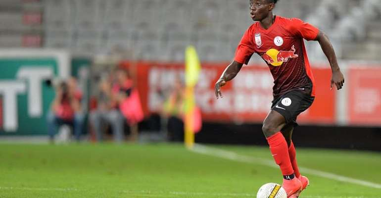 No Offer From Barcelona To Sign Gideon Mensah - Red Bull Salzburg Reveals
