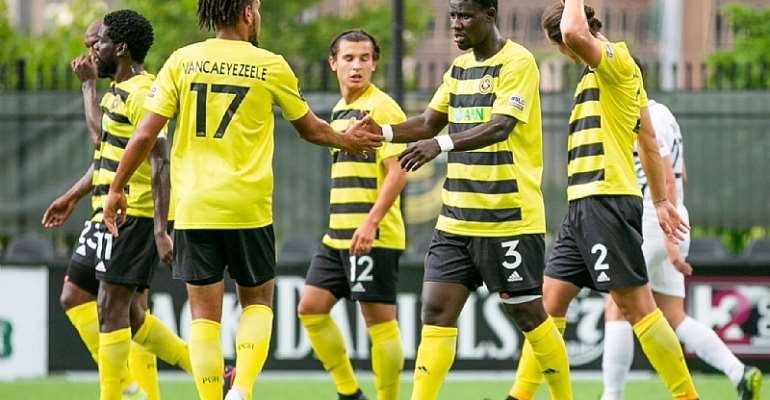 Ropapa Mensah Scores For Pittsburgh Riverhounds In Draw Against Saint Louis FC
