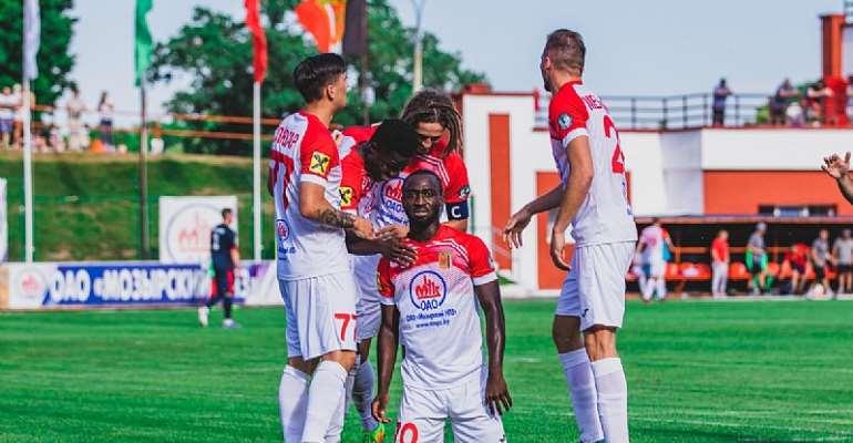 Striker Dennis Tetteh Scores To Earn A Point For Slavia Mozyr In Draw Against Vitebsk
