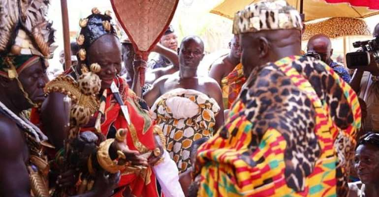 Photos: Otumfuo's Historic Visit To Okyenhene