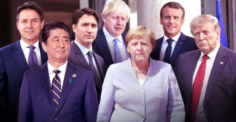 Participants of the G7 summit in France, controversial issues makes the outcome of the meeting in France unsure.