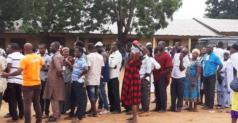 Amasaman: NDC Delegates Vote In Rain