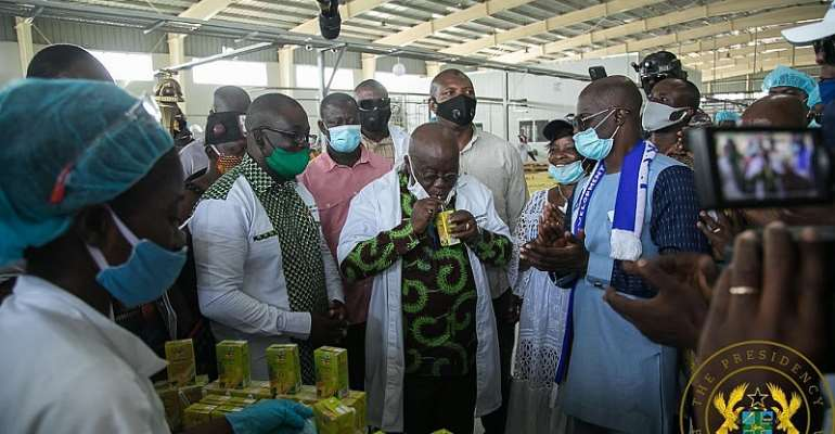 Management Of Ekumfi Fruits & Juices Factory Commend Akufo-Addo