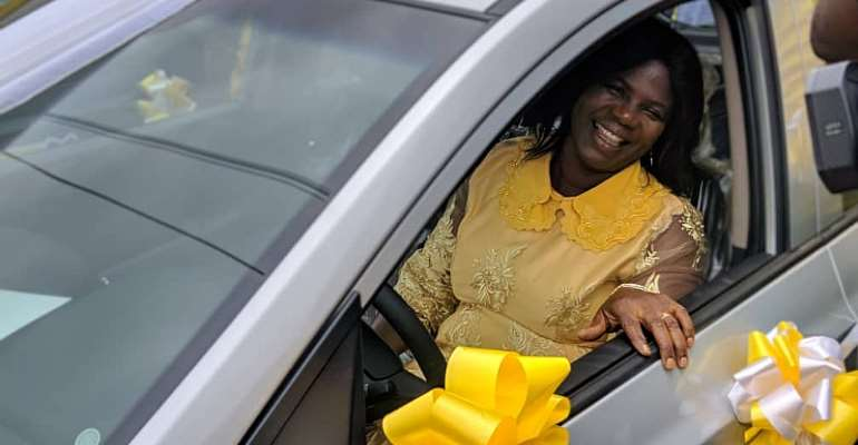 MTN MoMo@10: July Winners Receive Flat Screen TVs, Cars