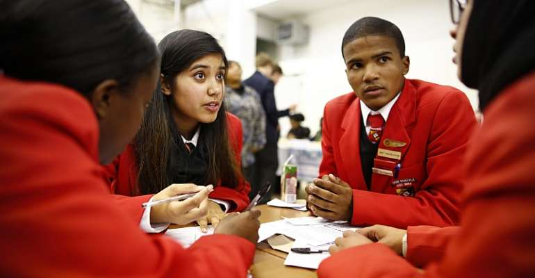 School students participate in a national quiz in South Africa. - Source: Nick Bothma/EPA