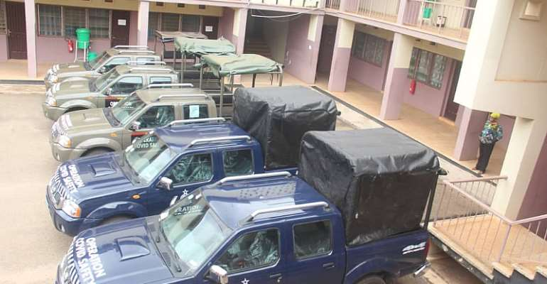 Sanitation Ministry, Zoomlion Present Five Vehicles To Police, GAF In Kumasi