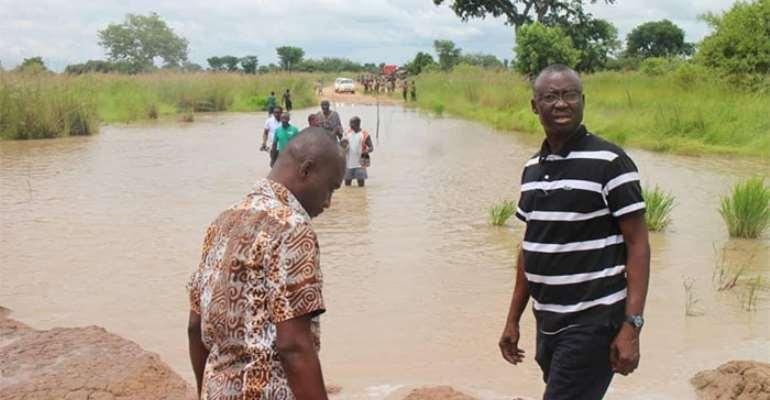 Daboya-Mankarigu Bad Road Blocks Savannah Minister