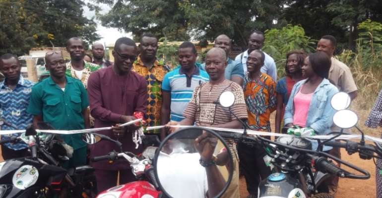 Agric Extension Officers Receive Motorbikes In Tano South