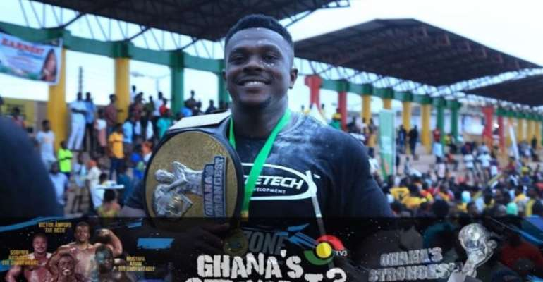 Victor Ampofo of KNUST Wins 'Ghana's strongest' 2019