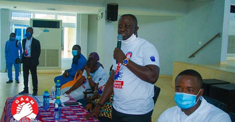 Hon. Moses Abor, Coordinator Of GAAM Addressing The Media To Endorse President Akufo Addo For The 2020 Election