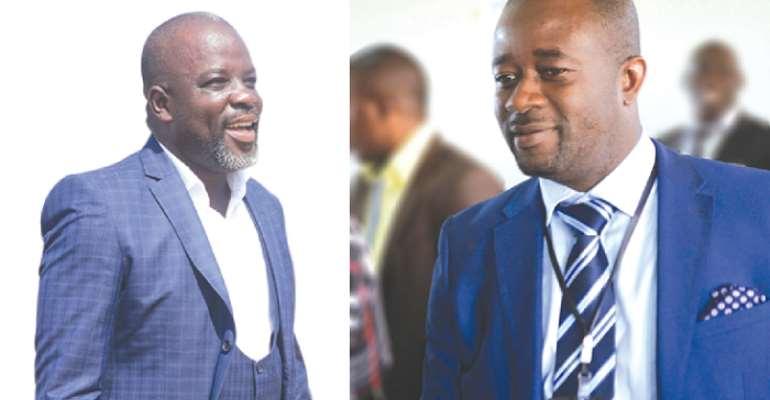 Osei Kweku Palmer and GFA President, Kurt Okraku