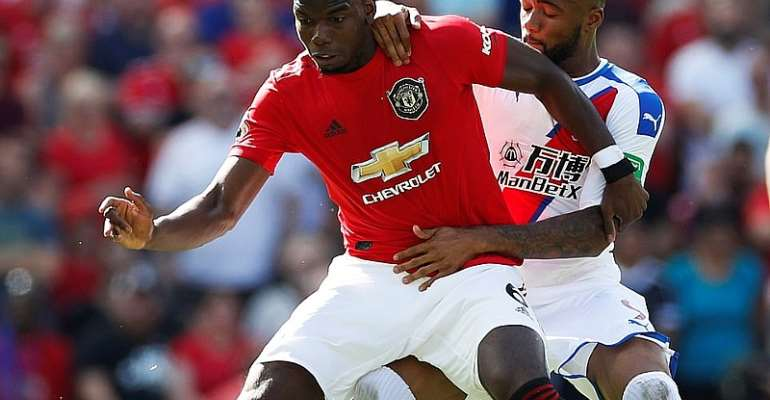 Jordan Ayew Praised For Stopping Paul Pogba In Palace Win Over Manchester United