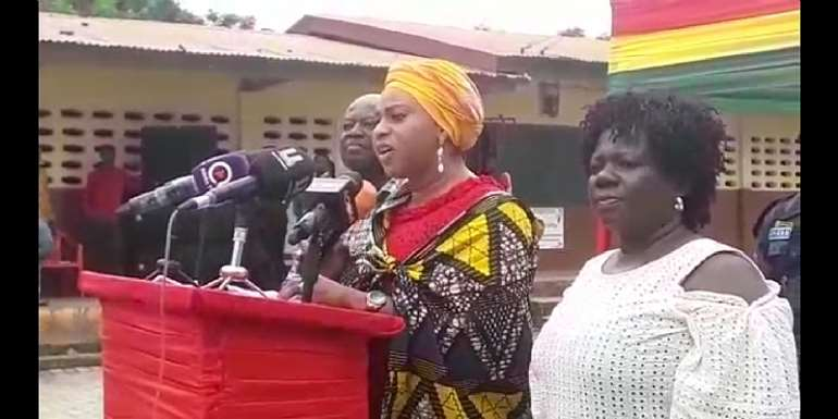 Adwoa Sarfo Cuts Sod For Six, Two Units Primary/Kindergarten Classroom Block