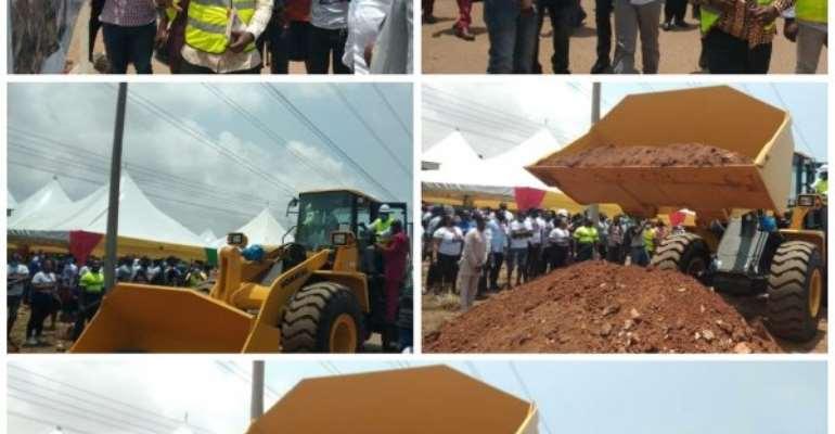 Roads Minister Cut Sod For Rehabilitation Of Tema industrial-Kpone Road