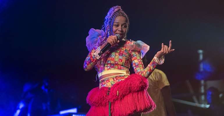 Sho Madjozi, who performed in a live stream benefit concert during lockdown. - Source: Alet Pretorius/Gallo Images via Getty Images