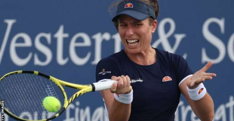 World number 15 Johanna Konta has reached the last four at the Western and Southern Open for the first time