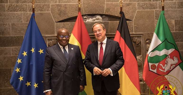 President Akufo-Addo with the Minister-President of North Rhine Westphalia, Armin Laschet