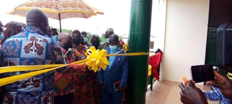 Akufo-Addo commissions multipurpose administration block for Duayaw Nkwanta Midwifery Training School