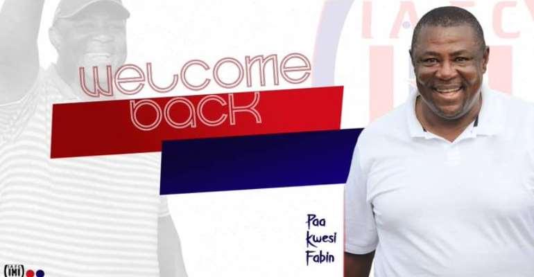 New Inter Allies Coach Paa Kwesi Fabin Targets Successful Stint