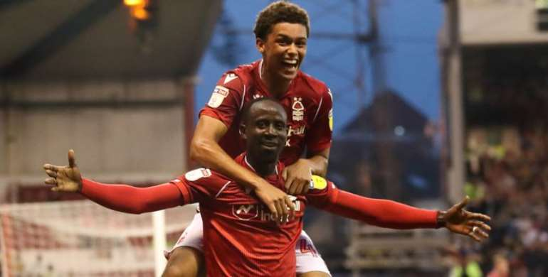 Albert Adomah Shines As Nottingham Forest Humble Derby County in Carabao Cup