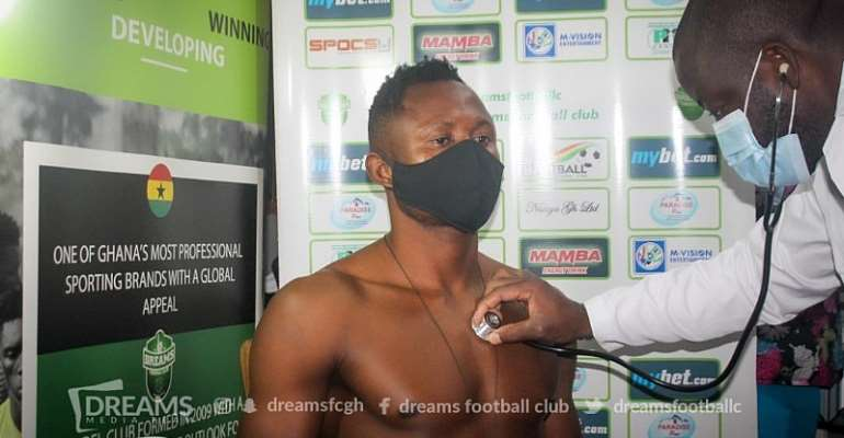 PHOTOS: Josep Esso's Medical Examination Prior To Dreams FC Move